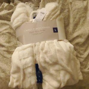 White plush robe